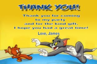 Personalised Tom and Jerry Thank You Cards